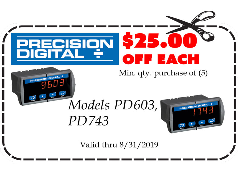 Gift Certificates: Precision Digital Model PD603 Model PD743