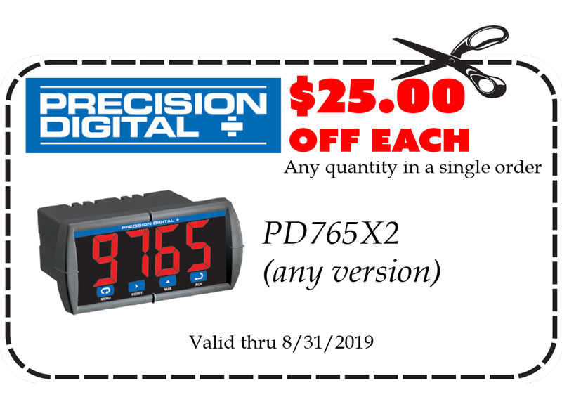 Gift Certificates: Precision Digital PD765X2